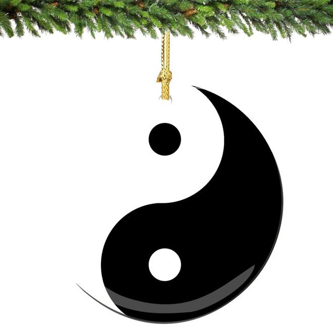 Yin Yang Christmas Ornament Porcelain