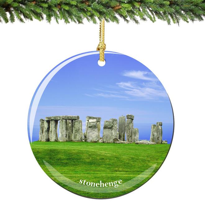 Stonehenge Christmas Ornament Porcelain