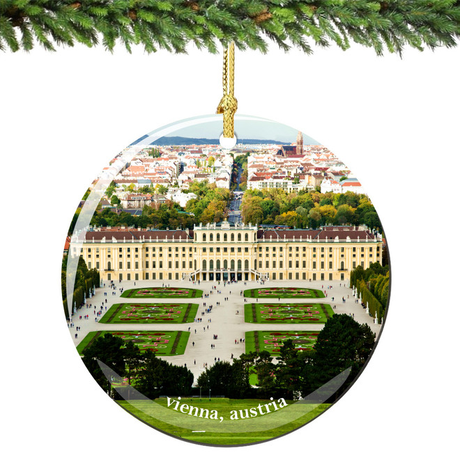 Vienna Austria Christmas Ornament Porcelain