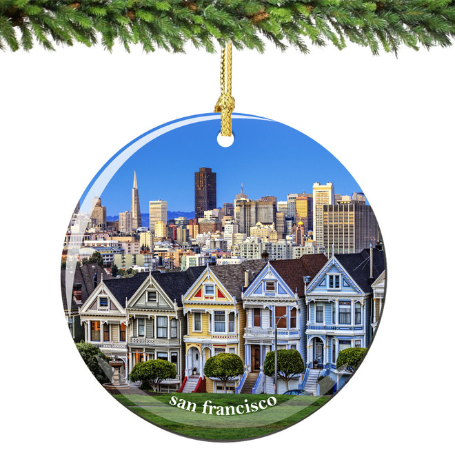 San Francisco Christmas Ornament Porcelain Skyline