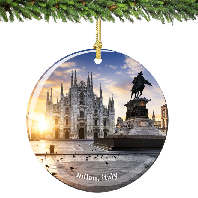 Milan Italy Christmas Ornament Porcelain