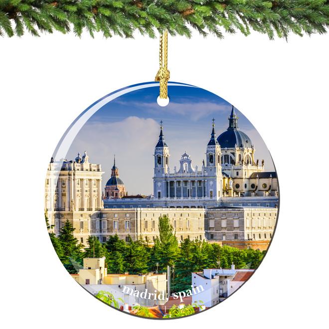 Madrid Spain Christmas Ornament Porcelain