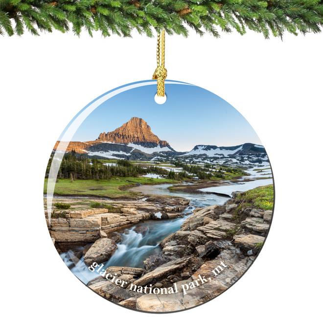 Glacier National Park Christmas Ornament Porcelain
