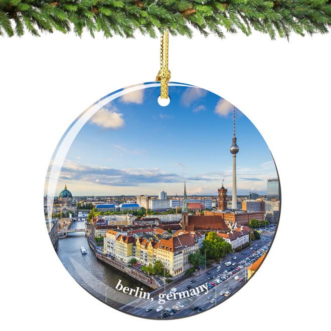 Berlin Germany Christmas Ornament Porcelain Skyline