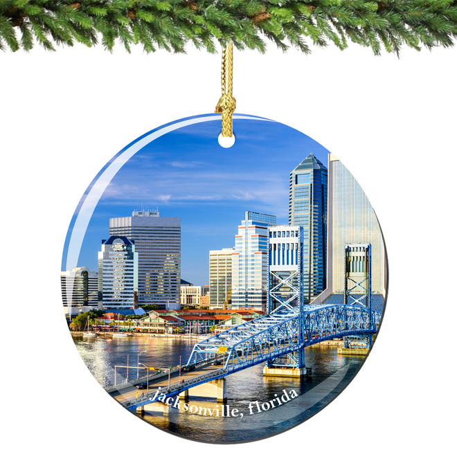 Jacksonville Florida Christmas Ornament Porcelain