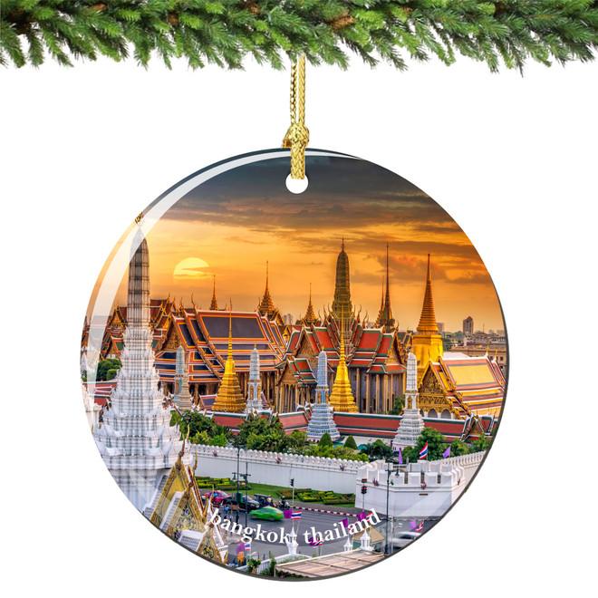 Bangkok Thailand Christmas Ornament Porcelain