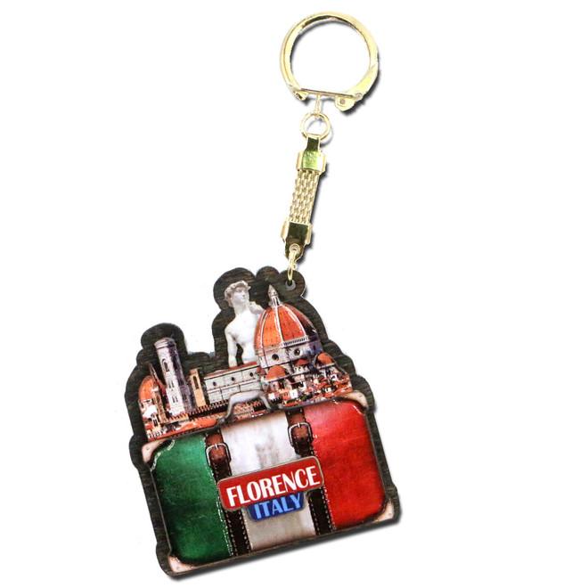 Italian 3D Souvenir Travel Collector Gift Florence Italy Landmark Key Cchain