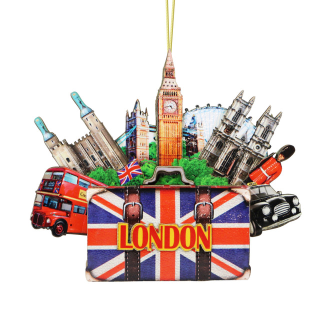 3D London Christmas Ornament