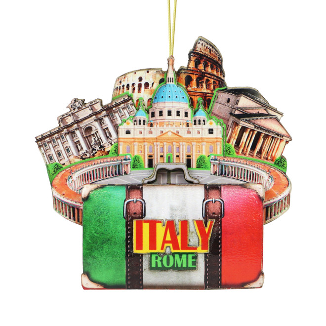3D Rome Christmas Ornament