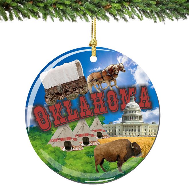 Oklahoma Christmas Ornament