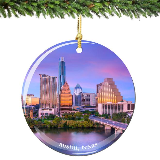Austin Christmas Ornament of Texas - Austin Christmas Ornament Porcelain