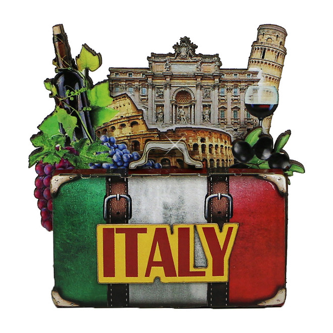 3D Italy Wooden Magnet
