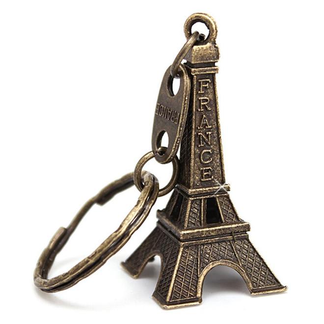 Bronze 3D Eiffel Tower Key Chain 2f642e382305