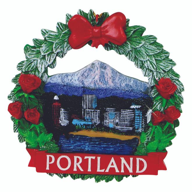 - Portland Wreath Christmas Ornament