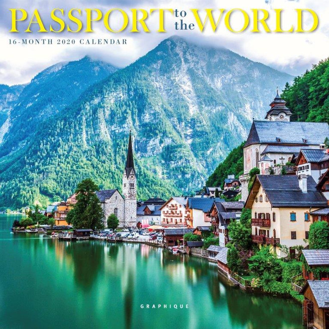 Passport to the World Mini Calendar, Wall Calendar