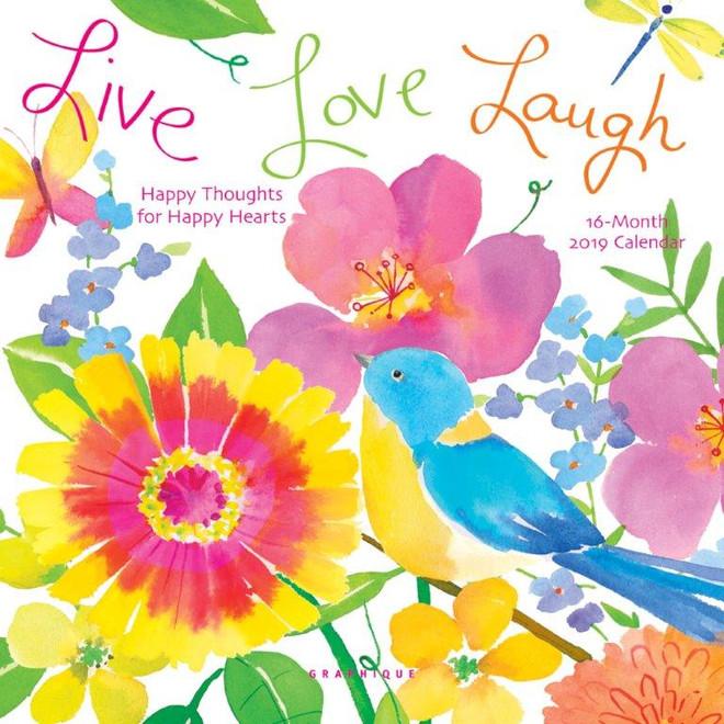 2019 Live Love Laugh Mini Calendar, Wall Calendar