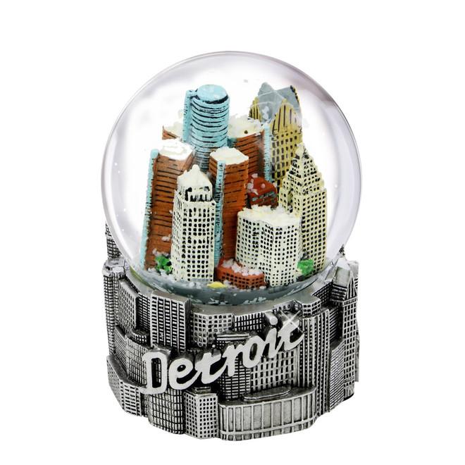 65mm Detroit, Michigan Snow Globe