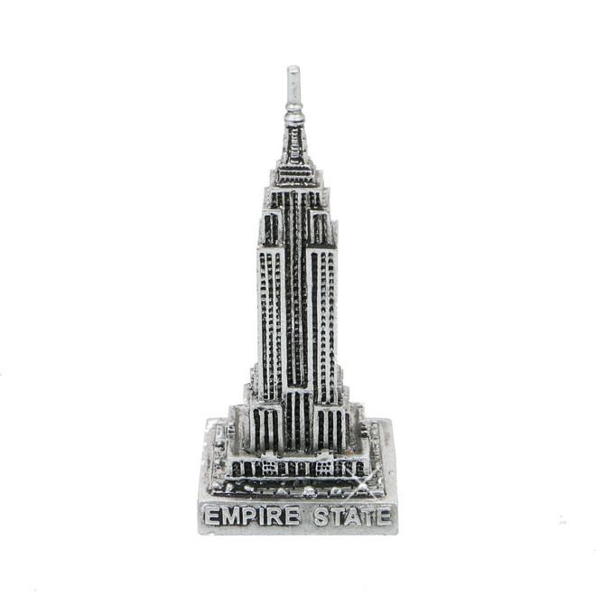 Mini Silver Empire State Building Statue 3 Inches