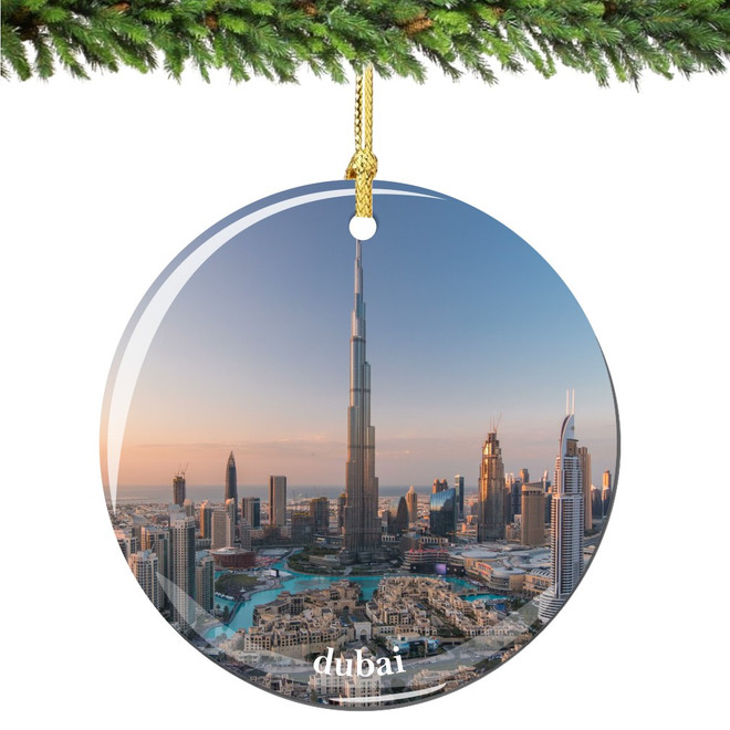 Dubai Christmas Ornament Porcelain Double Sided