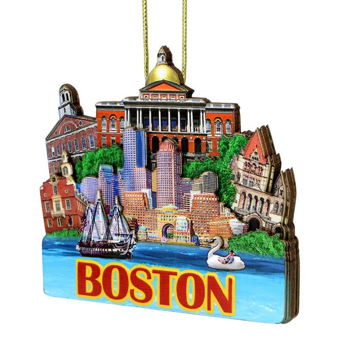 3D Boston Christmas Ornament