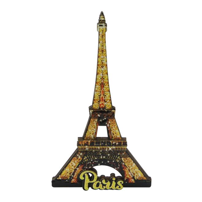 3D Eiffel Tower Wooden Magnet