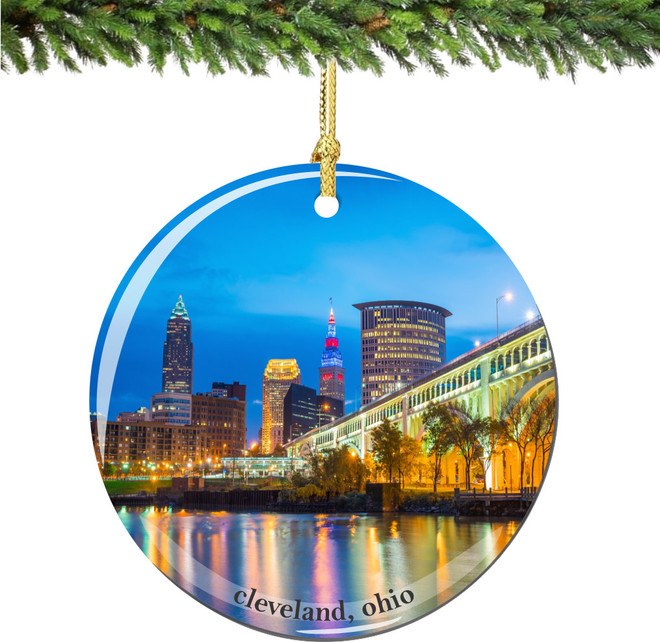 Cleveland Christmas Ornament