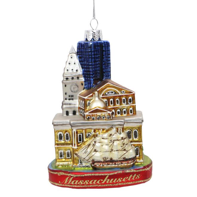 Boston Icons Glass Ornament