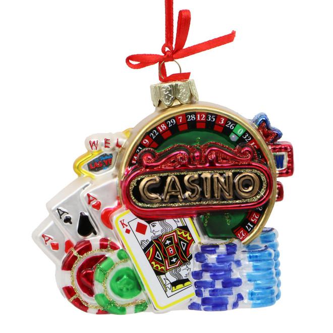 Glass Las Vegas Casino Ornament