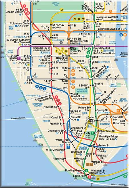 NYC Subway Magnet