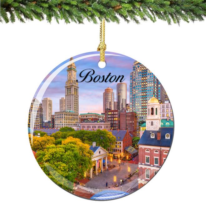 Boston Christmas Ornament