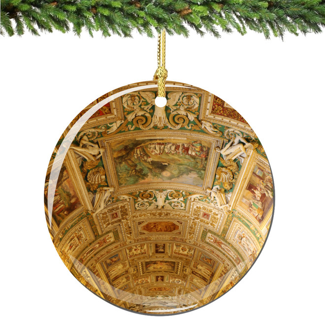 Vatican Gallery of Maps Christmas Ornament Porcelain