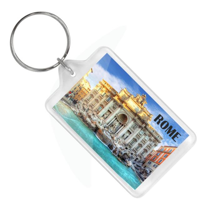 Rome Trevi Fountain Keychain