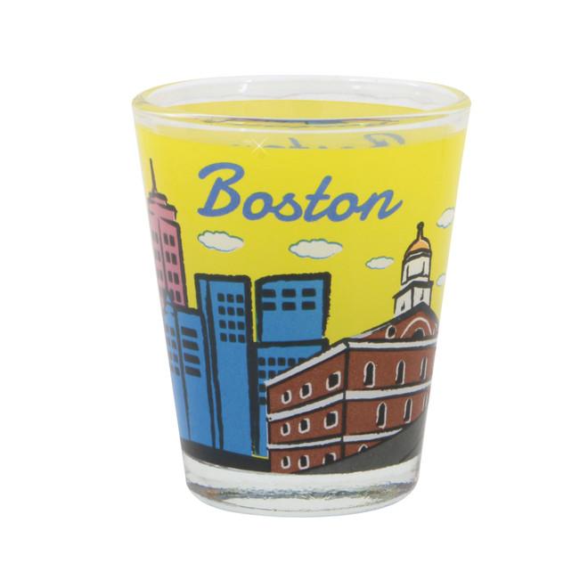 Boston Shot Glass with Skyline
