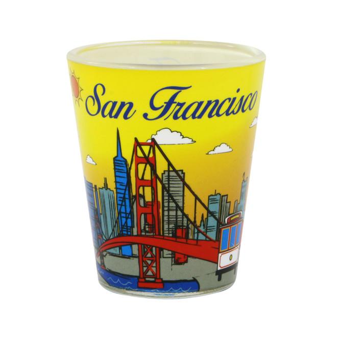 San Francisco Shot Glass with Skyline