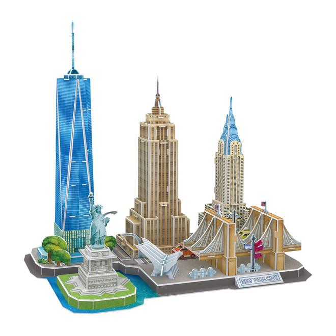 New York City Puzzle Skyline 3D Design