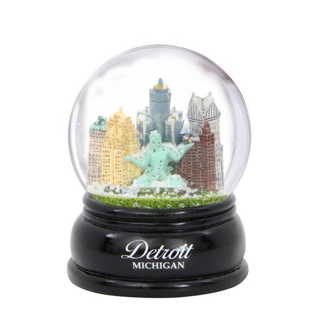 Detoit Skyline Snow Globe 3.5 Inches