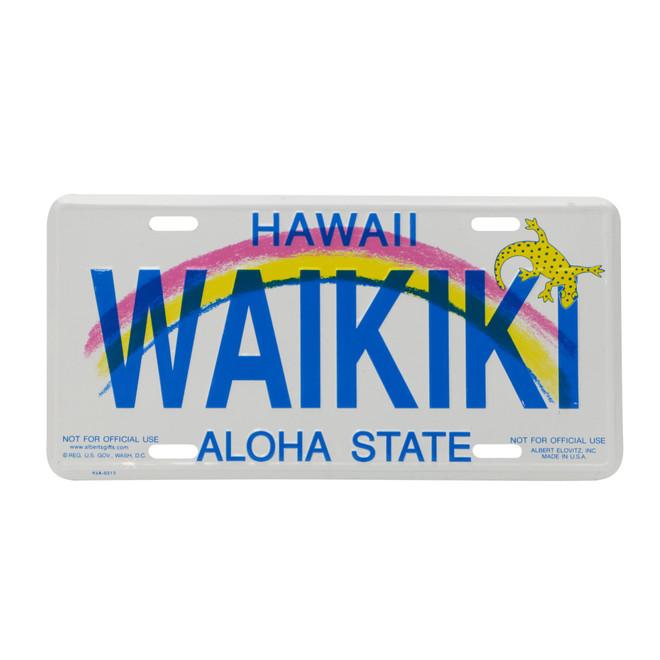 Waikiki License Plate, Hawaii Novelty