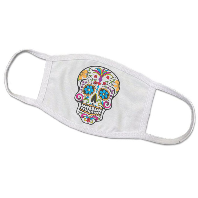 Sugar Skull Day of the Dead Face Mask