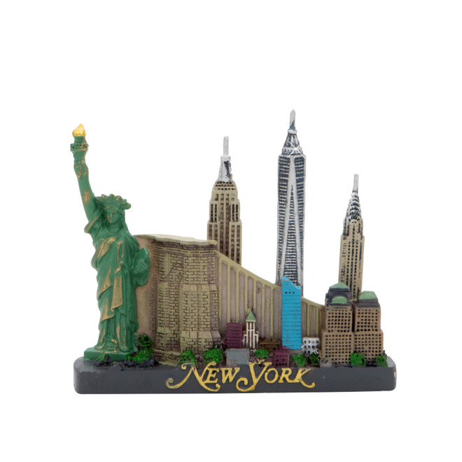 NYC Skyline Magnet with the Freedom Tower
