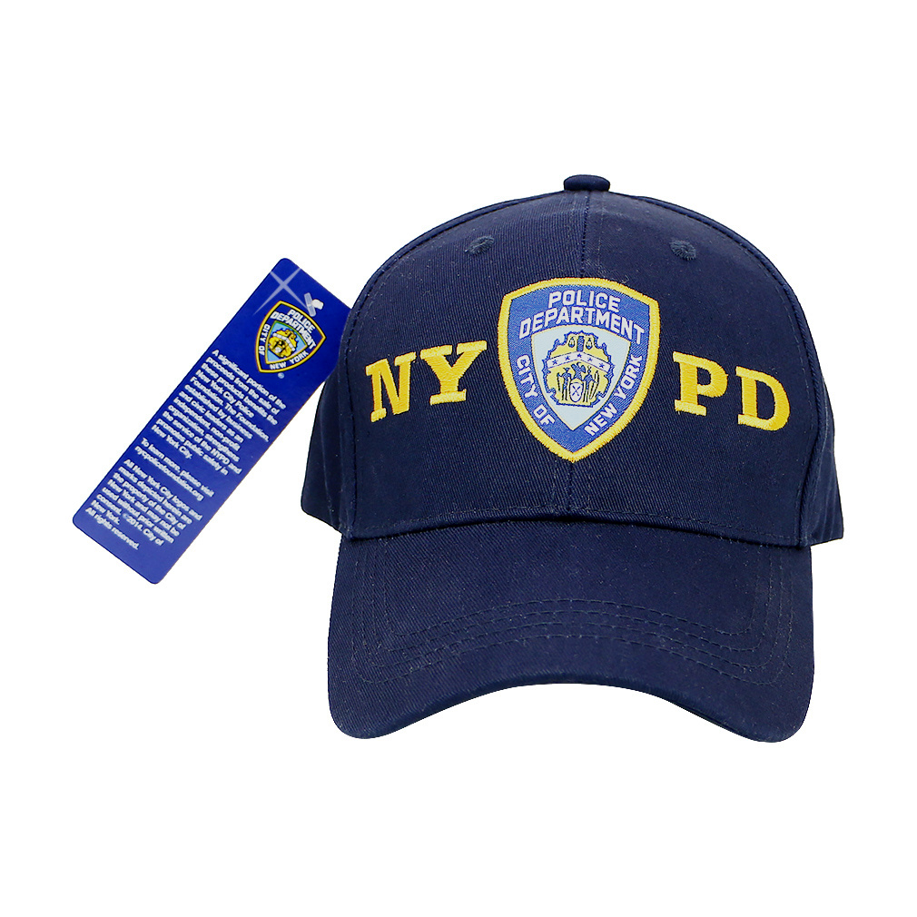 Official NYPD Cap Mens Baseball Hat New York Police Dept Hat Navy Embroidered