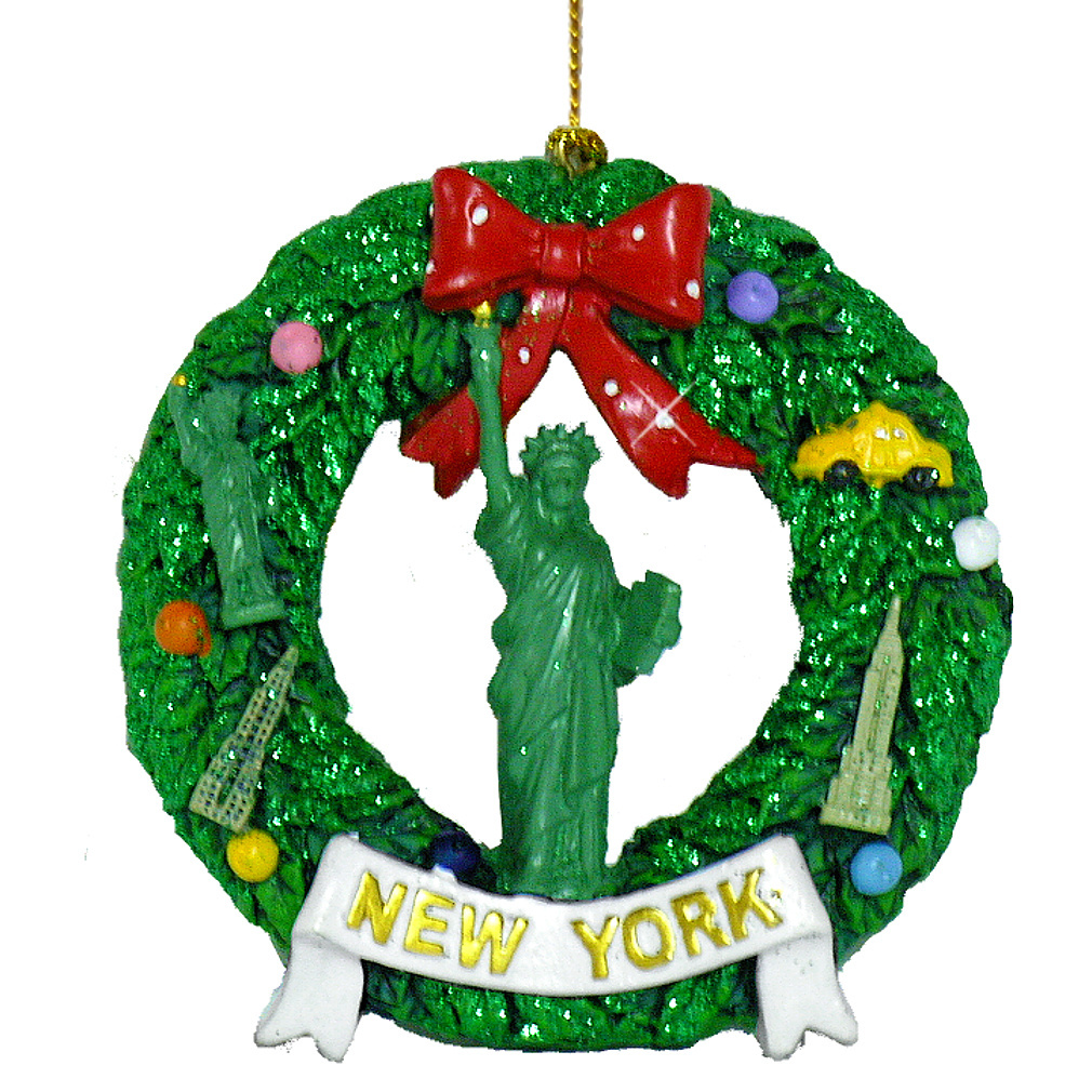 New York Liberty Wreath Ornament