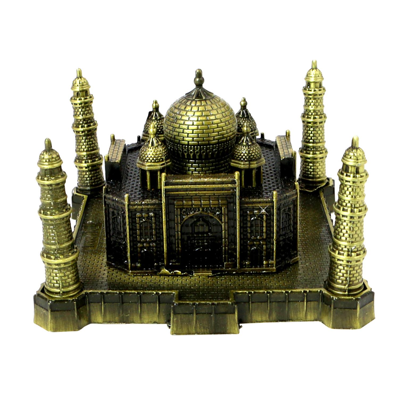 Statue Figurine India Taj Mahal Bronze Replica 2.5 x 3.75 Inches