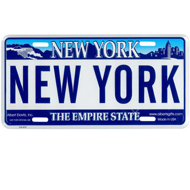 St Louis Taxi >> Embossed Novelty Souvenir New York License Plate