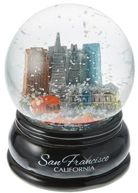 San Francisco Snow Globes With Golden Gate Bridge