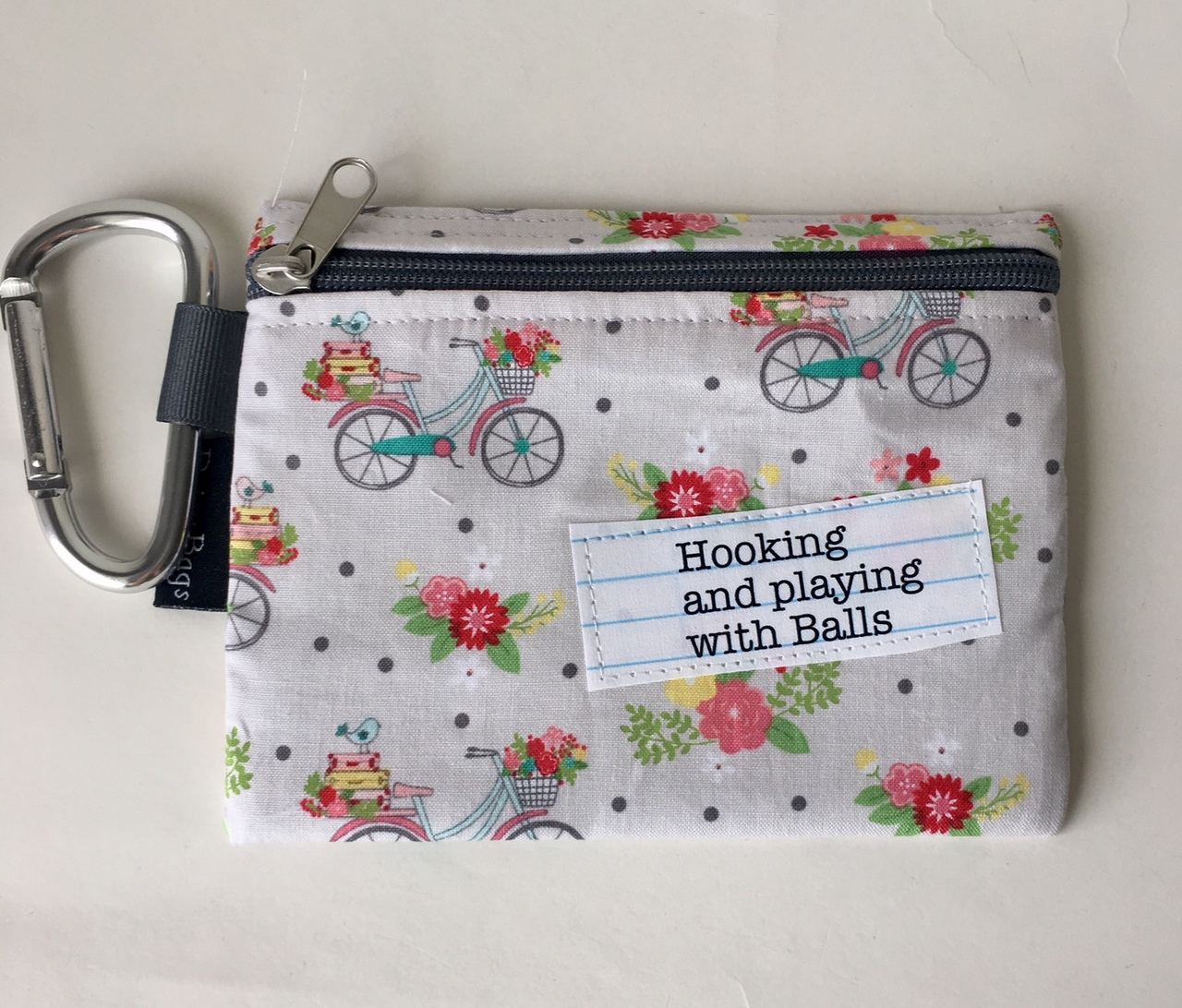 XL Zippermini Knitting Quote Notion Pouch