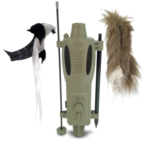 AD200 Attachable Predator Decoy Woodpecker Furry Topper Deer and Deer Hunting