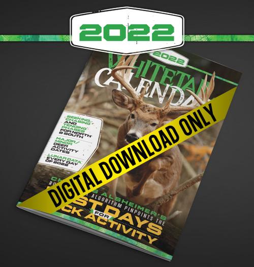 2022 Whitetail Calendar Deer and Deer Hunting Digital Download