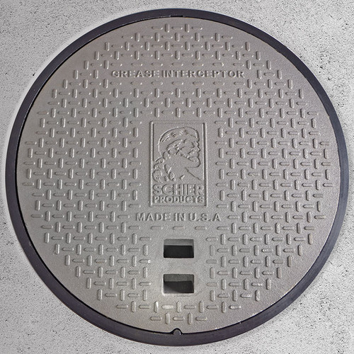 Schier C24HP pickable cast iron grease interceptor cover