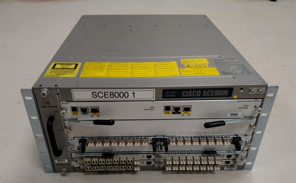 Cisco SCE8000 SCM-E + SIP + FAN + OPB8K-HD-INT-PNL + 2x PWR-2700-AC/4