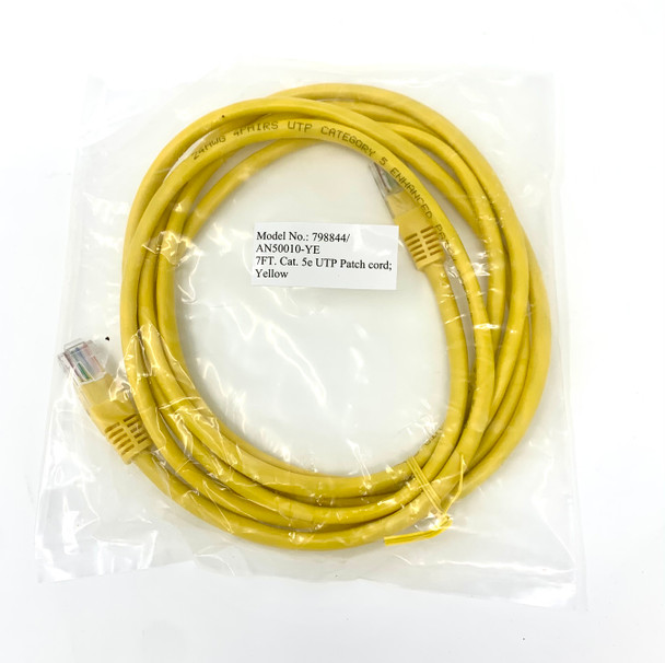 100 Pack 7 Foot Yellow Cat5e UTP Ethernet Patch Cable - High Quality